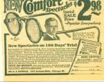 1930 -  New Comfort spectacles sale ad