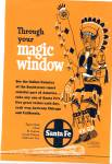 Click here to enlarge image and see more about item Z9221: 1952 =-Santa Fe railroad ad