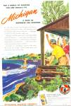 Click here to enlarge image and see more about item Z9316: 1947 -  Michigan tourist council ad