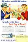 Click here to enlarge image and see more about item Z9342: 1952 =- Greyhound bus lines ad