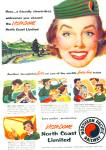Click here to enlarge image and see more about item Z9389: 1955 - Northern Pacific railway ad