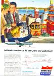 Click here to enlarge image and see more about item Z9395: 1954 - United Air lines ad