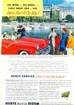 Click here to enlarge image and see more about item Z9536: 1955 - Hertz Rent a car system ad
