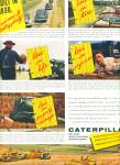 Click here to enlarge image and see more about item Z9638: 1954 - Caterpillar Machines ad
