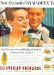 Click here to enlarge image and see more about item Z9639: 1954 - Philip Morris cigarettes ad
