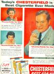 Click here to enlarge image and see more about item Z9645: 1954 - Chesterfield cigarettes - BOB HOPE