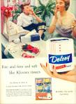 Click here to enlarge image and see more about item Z9708: 1954 -  Delsey Kleenex product ad