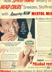 1955 -  Mistol Mist nasal medication ad