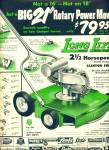 1955 -  Long Life rotary power mower ad