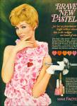 Click here to enlarge image and see more about item Z9857: 1964 -  Max Factor brave new pastels ad