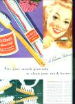 Click here to enlarge image and see more about item Z9949: 1946 -  Dr.West's miracle tuft tooth brush