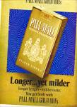 Click here to enlarge image and see more about item ZS8017: Pall Mall gold 100s cigarettes ad 1971