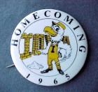 65 University of Iowa HAWKEYES Football Homecoming Pin
