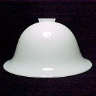 Hanging Pendant  Bowl Light Lamp Shade 2 1/4 X 11 in White Glass  Bell