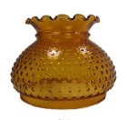 Hobnail Amber Glass 7 inch Student Lamp Shade Desk Table Chandelier
