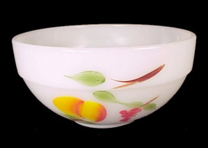 Fire King Fruits Glass 6 in Bowl Anchor Hocking Vintage (Image1)