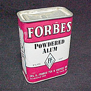 Forbes Finest Powdered Alum Spice Advertising Tin Vntg (Image1)