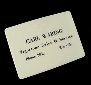 Roseville Iowa Advertising Vigortone Sales & Servce Carl Waring Clip