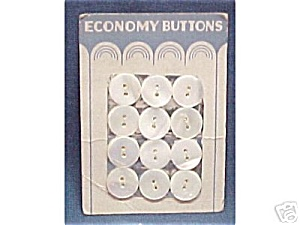 2 Cards - Vintage Mop Mother Of Pearl 1/2 Inch Buttons