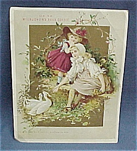 Victorian Trade Card McLaughlin's Coffee 1 of 16 cards (Image1)