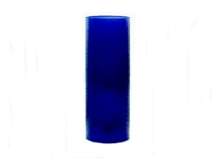 Glass Tube Cylinder Light Shade 3 X 8 Candle Holder Lamp Blue Cobalt (Image1)