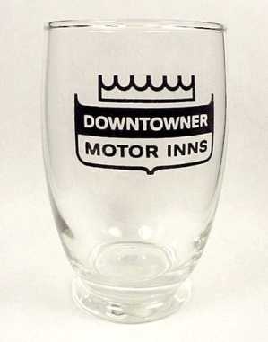 Downtowner Motor Inns Advertising Drinking Glass Tumble