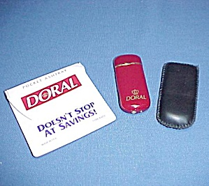 1993 Doral Butane Cigarette Lighter 1996 Pocket Ashtray