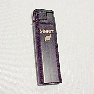Vintage 1990s Merit Cigarette Butane Pocket Lighter