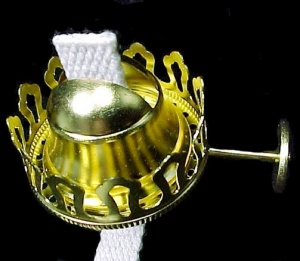 No 1 Gem Arctic Lamp Burner Solid Brass 7/8 In Thread 1 5/8 In Chimney