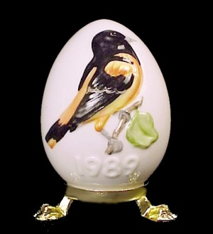 1989 Goebel Easter Egg Oriole Bird West Germany (Image1)
