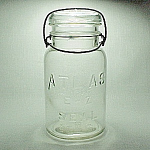Clear Atlas EZ Seal Qt Quart Canning Jar Bail Glass Lid (Image1)