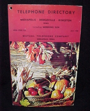 Telephone Directory Book 1978 Mediapolis Iowa Morning Sun Dodgeville