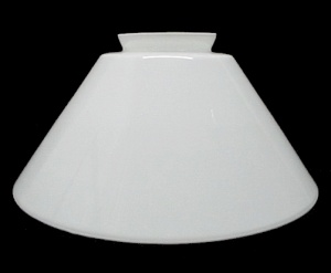 White Vianne Cone 3.25 X 10 Pendant Light Shade Glass Reflector New (Image1)