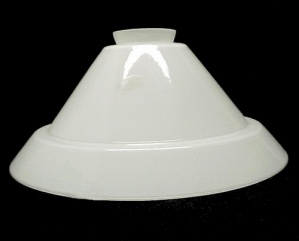 White Vianne Glass Cone 3.25 X 14 Pendant Light Shade Art Deco New (Image1)