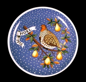 JC Penney 1972 NOEL Christmas Plate Partridge Pear Tree (Image1)