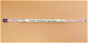 Three Feathers Whiskey Glass Swizzle Stick Drink Mixer (Image1)