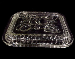 Fruits Clear Glass Oblong Refrigerator Dish Lid 4.5 X 5