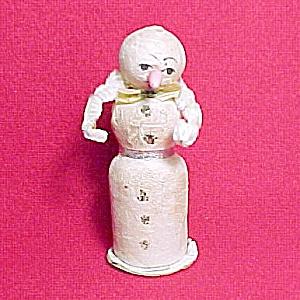 Vintage Snowman Spun Cotton Chenille Christmas Ornament (Image1)
