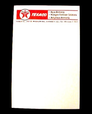 Texaco Note Paper Pad Chicago Illinois Farm Fertilizer (Image1)