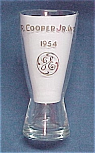General Electric 1954 Ge Advertising Glass Tumbler