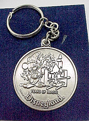 1990 Disneyland Mickey Mouse Key Chain Years Of Magic