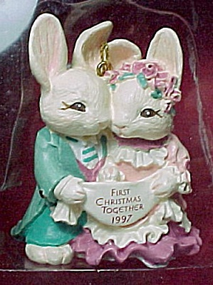 1997 American Greetings Bunny Rabbit Ornament First Christmas Together (Image1)