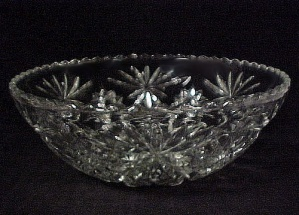 Anchor Hocking Glass Early American Prescut Salad Bowl (Image1)
