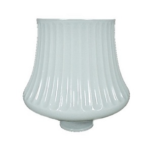 Light Shade Ribbed Glass White 1 3/4 X 5.25 Chandelier Wall Sconce  (Image1)