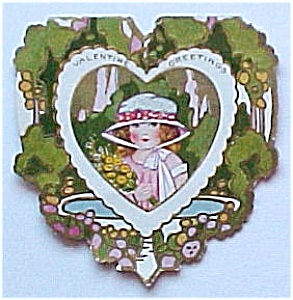 Vintage Valentine Card Whitney Made Girl Heart Greeting