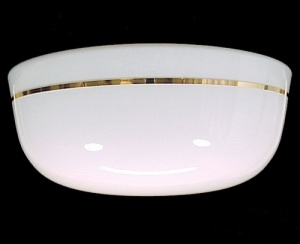 Light Shade Drum Pan Twist On Lock 9 1/2 X 5 1/2 X 12 White Glass (Image1)