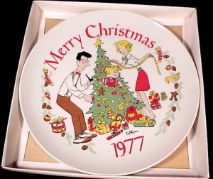 1977 Dennis the Menace Christmas Plate Hank Ketcham (Image1)