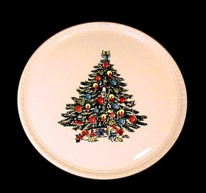 Royal China Christmas Tree Cake Plate Round Platter (Image1)