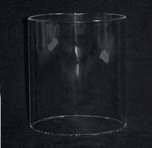 Cylinder 6 X 7 in Tube Glass Light Lamp Shade Candle Holder  (Image1)