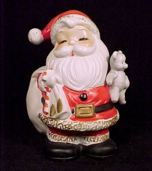 HOMCO Santa Claus Coin Bank Home Interiors Piggy Money (Image1)